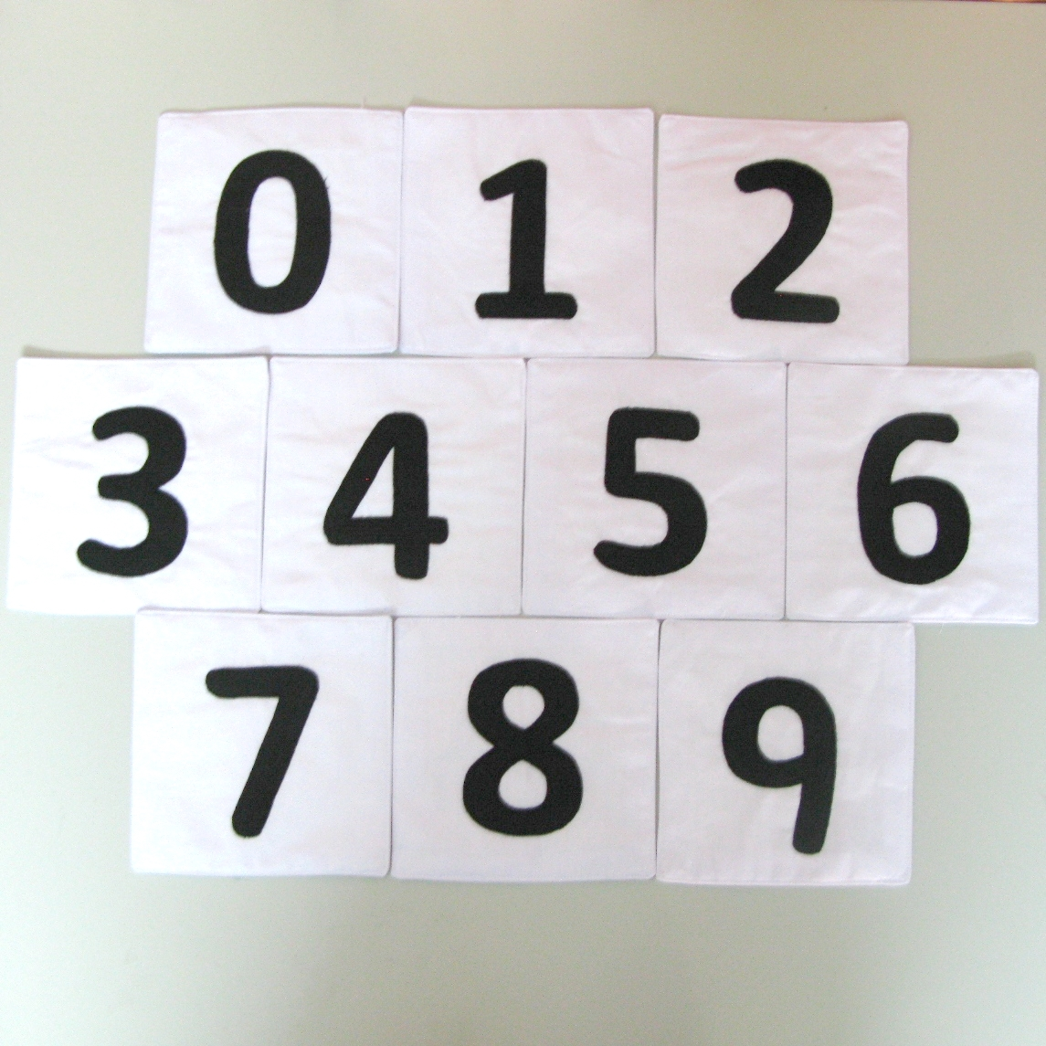 Flashcard numbers 01