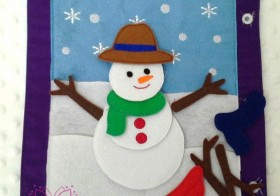 Busy Book Page Snowman